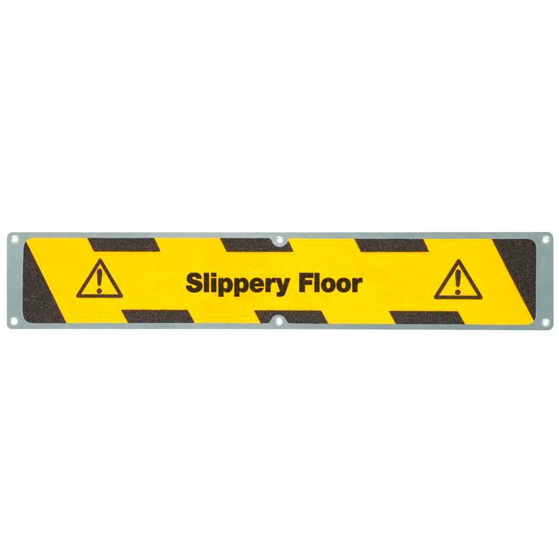 "Antirutschplatte, Aluminium m2, ""Slippery Floor"", 635 x 114 mm"
