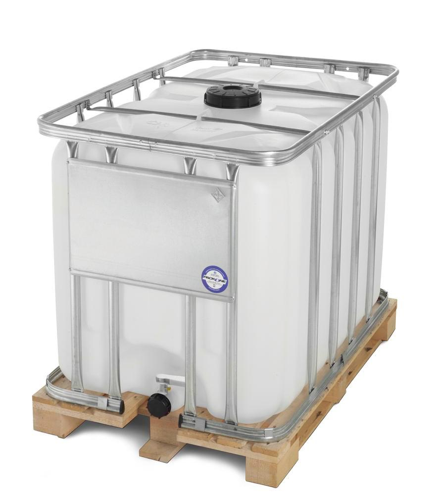 Standardcontainer IBC mit Holzpalette, 1000 Liter Volumen - 1