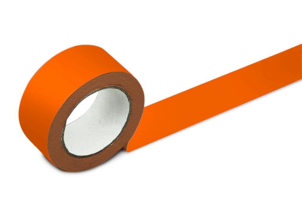 Bodenmarkierband, 50 mm breit, orange, 2 Rollen - 1